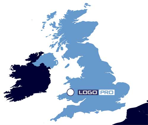 Location of LogoPro - Professional Logo Designers UK