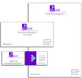 Stationery pack with double sided business cards