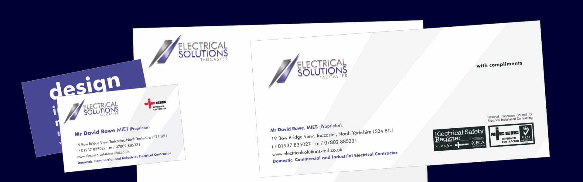 Logo and stationery<br>for electrical contractor