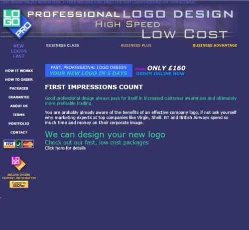 Snapshot of Logopro in 2001