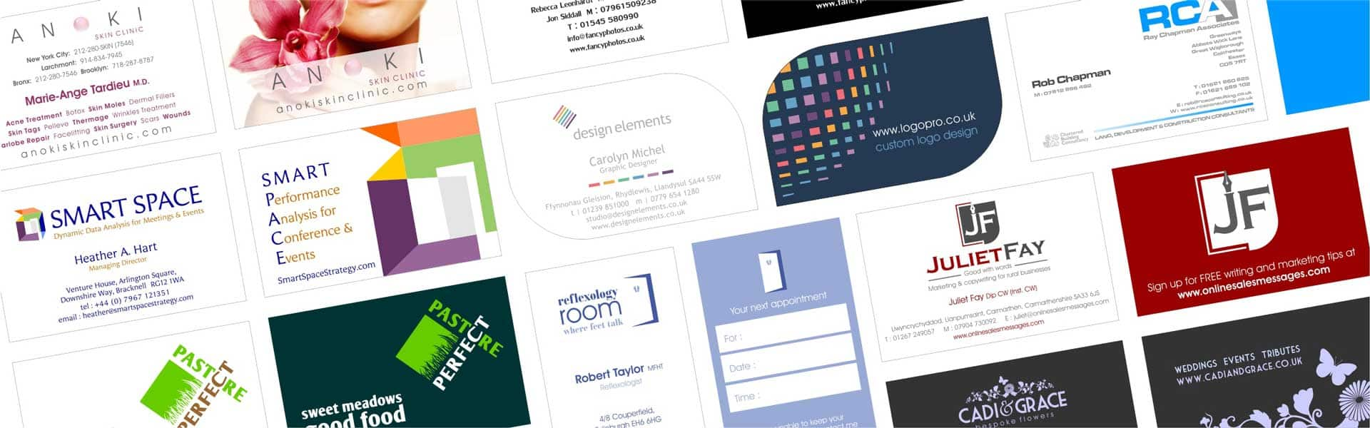 Examples of double sided business cards designed by Logopro